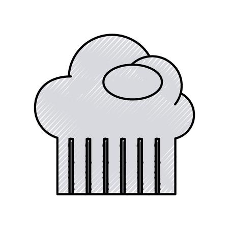 chef hat isolated icon vector illustration design Illustration