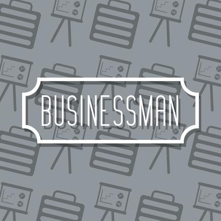 label inscription business profession work suitcase and board background vector illustration Standard-Bild - 96685848