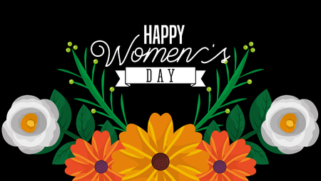 happy womens day celebration greeting card template vector illustration