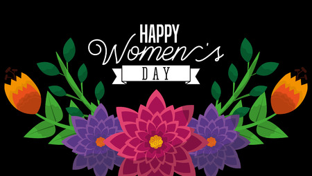 Happy Womens Day poster template vector illustration Illustration