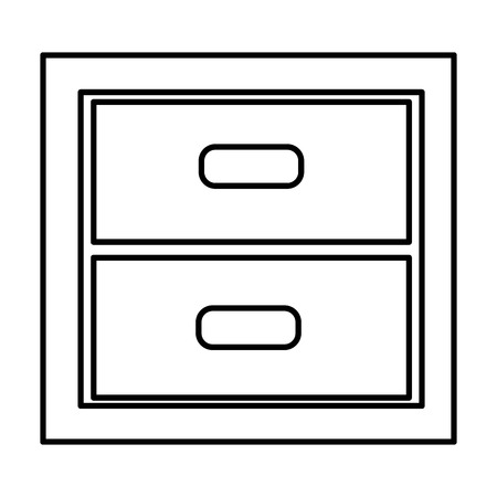 wooden office drawer icon vector illustration design Иллюстрация