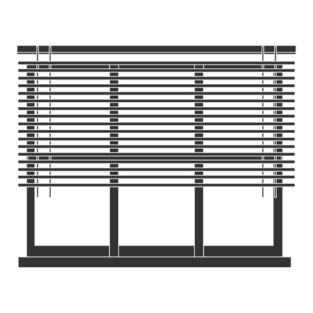 window apartment with blind vector illustration design Ilustração