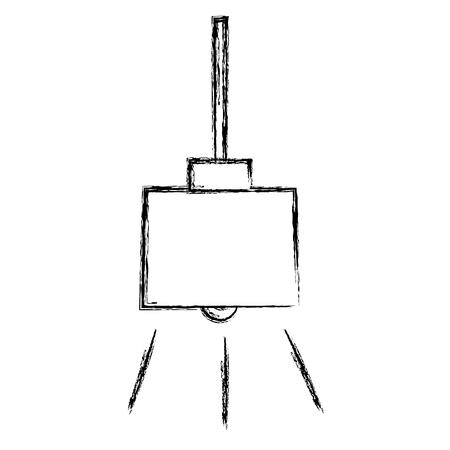 elegant office lamp hanging vector illustration design Ilustração