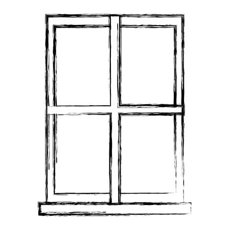 window apartment isolated icon vector illustration design Illustration
