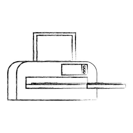 printer machine office icon vector illustration design