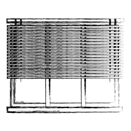 window apartment with blind vector illustration design Illustration