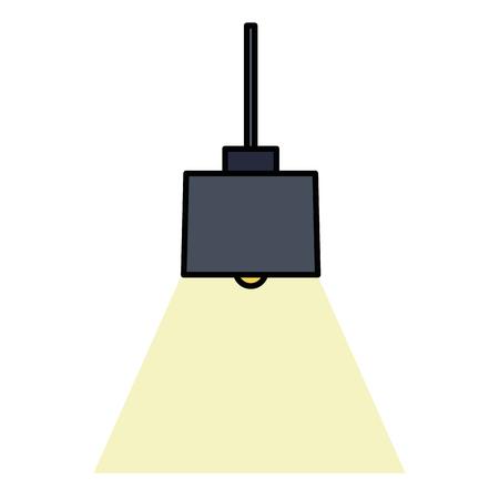 elegant office lamp hanging vector illustration design Ilustracja