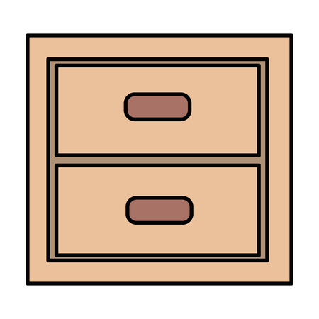 wooden office drawer icon vector illustration design Archivio Fotografico - 96784504