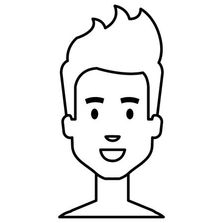young man shirtless avatar character vector illustration design Stock Vector - 96792253