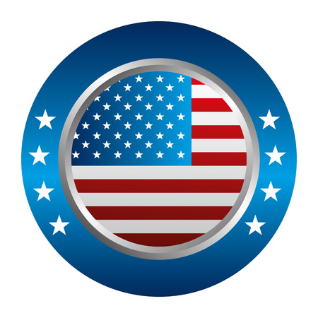 United States of America button vector illustration