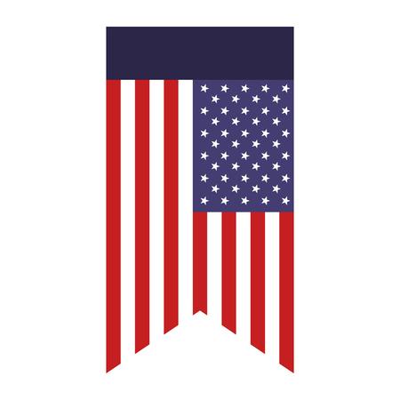 United States of America flag vector illustration