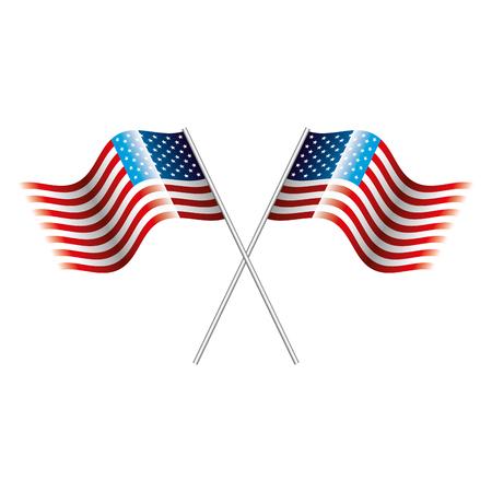 アメリカ合衆国フラグベクトルイラスト
