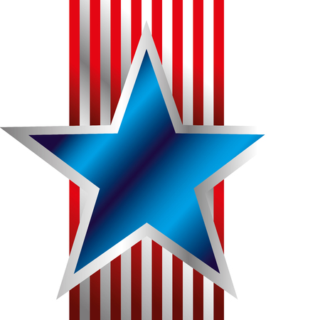 Blue Star with stripes background vector illustration