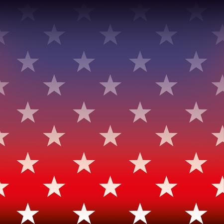 flag of united states degraded blur image vector illustration