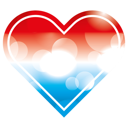 american flag in heart blurred bokeh image vector illustration 일러스트