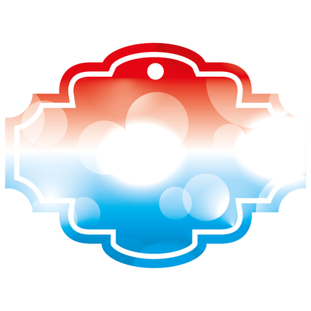 blurred bokeh of american flag vector illustration
