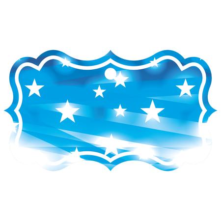 星抽象青ぼかしボケの背景ベクトルイラスト  イラスト・ベクター素材