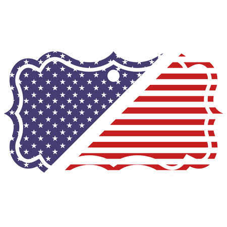 united states of america flag badge vector illustration Çizim