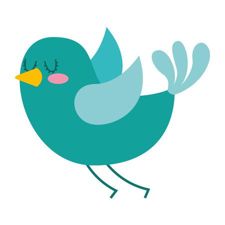 cute cartoon bird animal beauty vector illustration Illustration