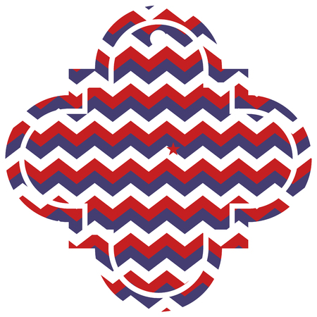 american usa flag patriotic red blue stripes zig zag vector illustration