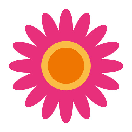 pink flower decoration ornament natural vector illustration Stock Illustratie