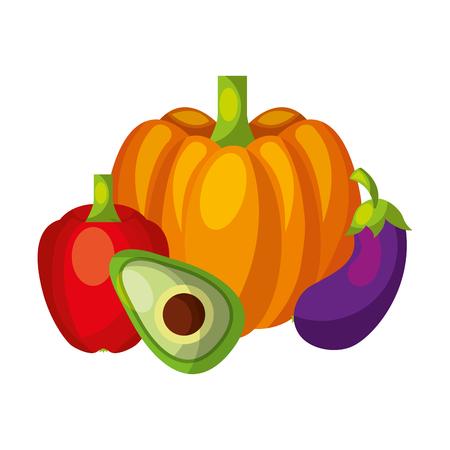 Vegetables organic fresh healthy food vector illustration
