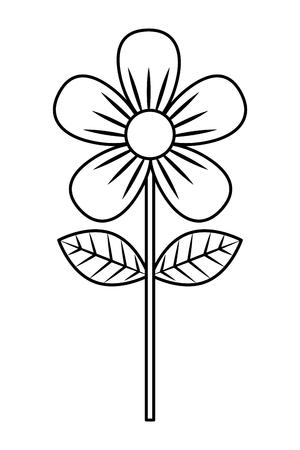 flower leave decoration natural icon vector illustration thin line design Stock Illustratie