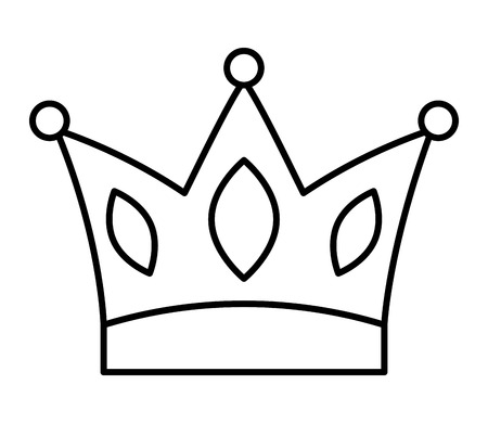 crown jewelry royal monarch image vector illustration thin line design Illustration
