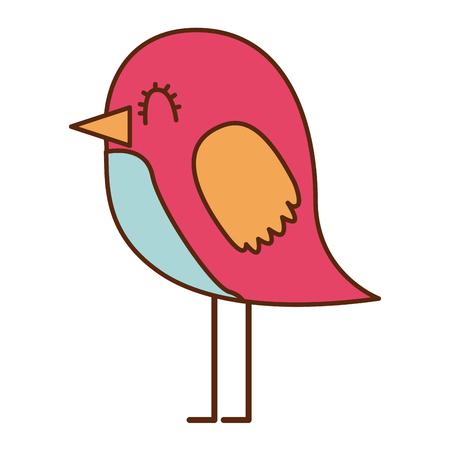 Cartoon cute bird adorable animal vector illustration Stok Fotoğraf - 96823797