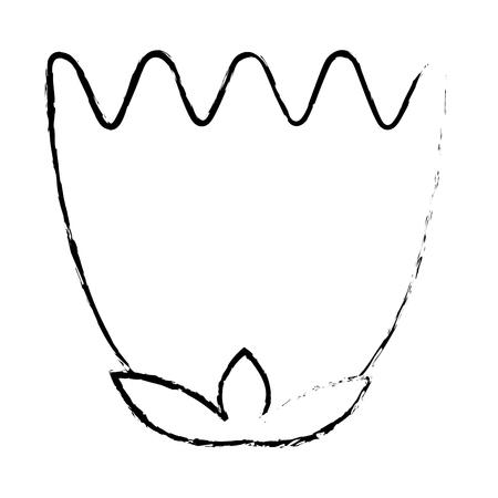 pink flower tulip decoration ornament natural vector illustration sketch design