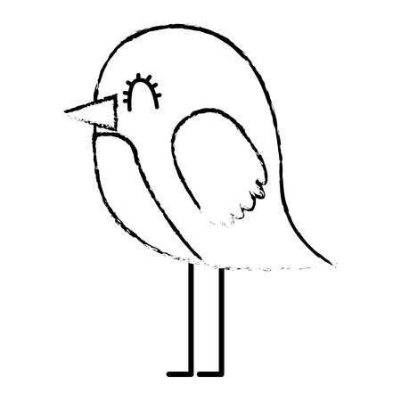 cartoon cute bird adorable animal vector illustration sketch design