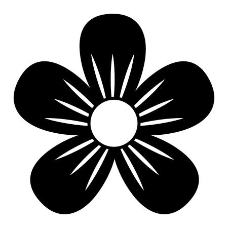 flower decoration ornament natural image vector illustration black and white
