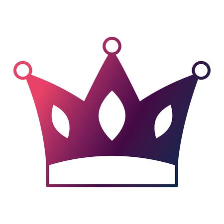 crown jewelry royal monarch vector illustration degrade color design Illustration
