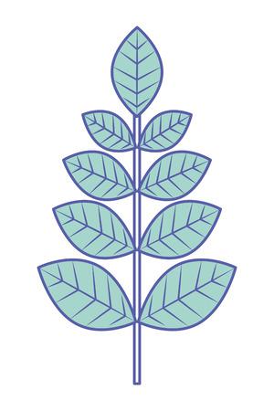 leaves branch decoration natural image vector illustration green pastel image