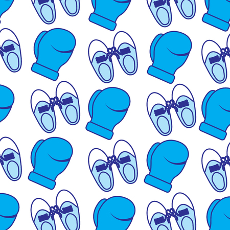 shoe tied laces and gloves joke fools pattern vector illustration blue image 向量圖像