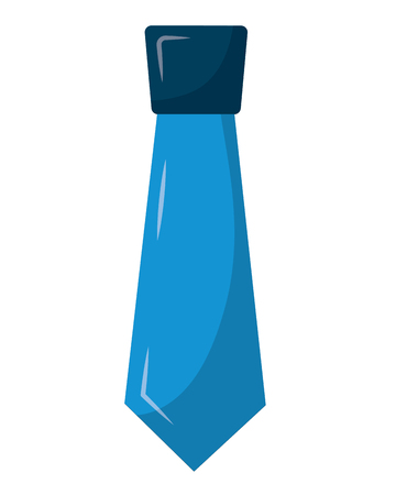 clothing necktie element accessory fashion design vector illustration Illustration