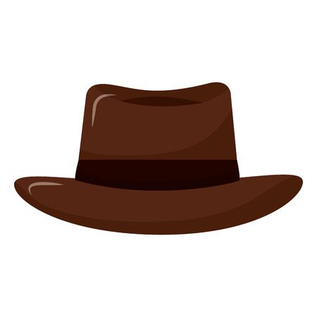 classic hat men cloth fashion vector illustration