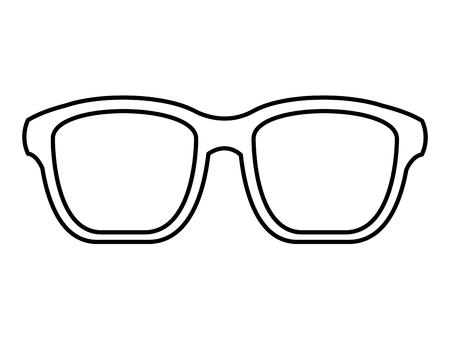 hipster glasses fashion trendy aceessory vector illustration outline image  イラスト・ベクター素材