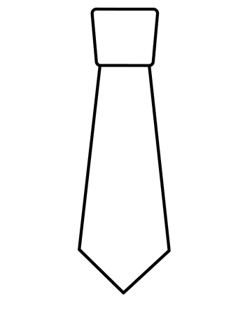 clothing necktie element accessory fashion design vector illustration outline image