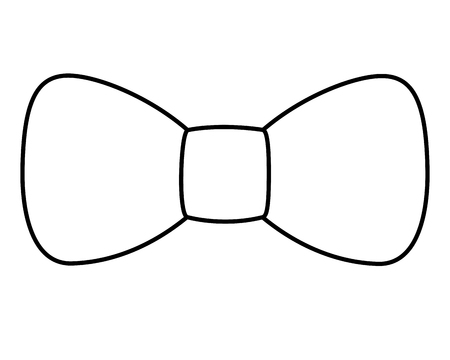 hipster fashion bow tie elegance for men vector illustration outline image