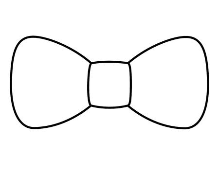 hipster  fashion bow tie elegance for men vector illustration outline image Illustration