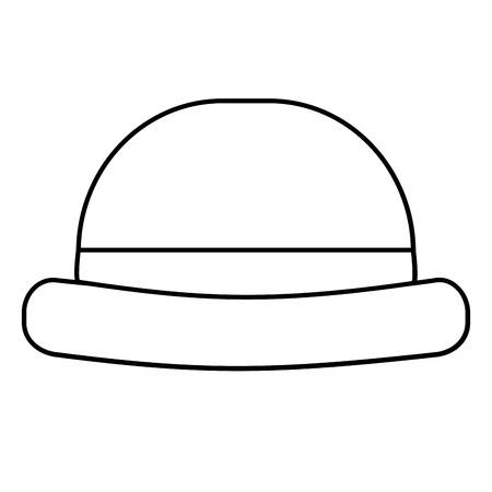 vintage hipster hat men accessory vector illustration outline image Illustration