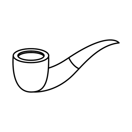 tobacco pipe vintage accessory for men vector illustration outline image Ilustrace