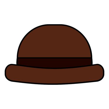 vintage hipster hat men accessory vector illustration