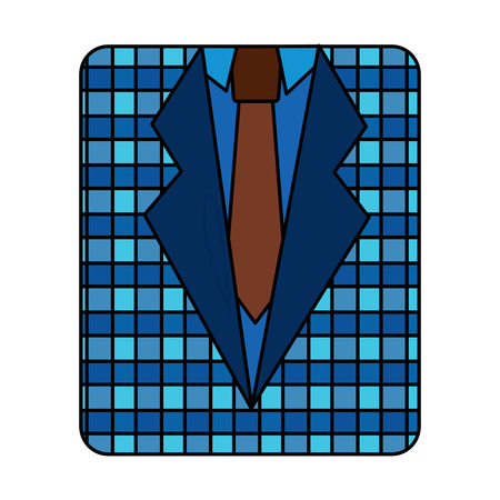 retro checkered shirt and necktie fashion vector illustration Stockfoto - 96832590