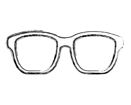 hipster glasses fashion trendy aceessory vector illustration sketch image