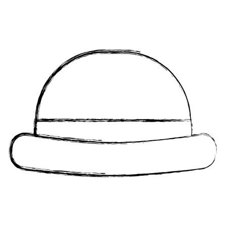 vintage hipster hat men accessory vector illustration sketch image Illustration