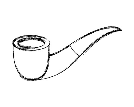 tobacco pipe vintage accessory for men vector illustration sketch image