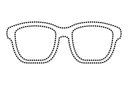hipster glasses fashion trendy aceessory vector illustration dotted line image