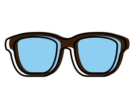 Hipster glasses fashion trendy aceessory vector illustration Ilustração